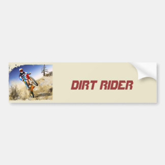 Desert Wheelie Motocross Bumper Sticker