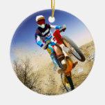 Desert Wheelie Motocross Christmas Ornament