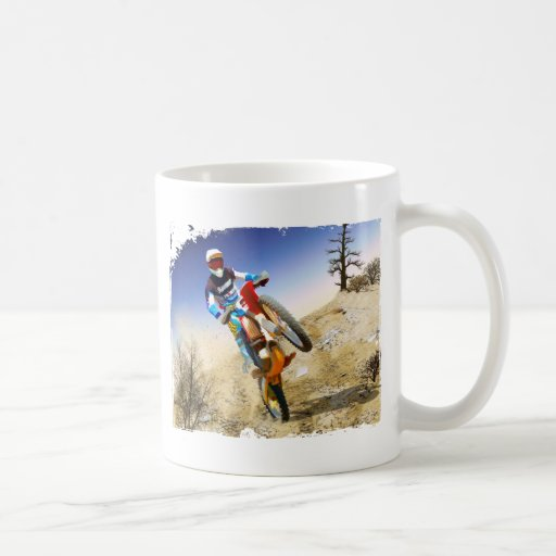 Desert Wheelie Motocross Classic White Coffee Mug