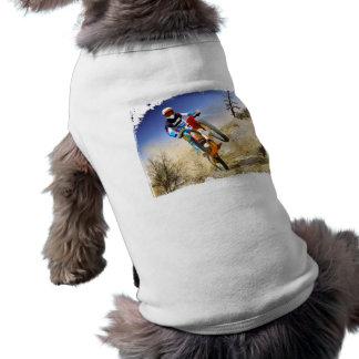 Desert Wheelie Motocross Doggie T Shirt