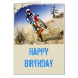Desert Wheelie Motocross Greeting Card