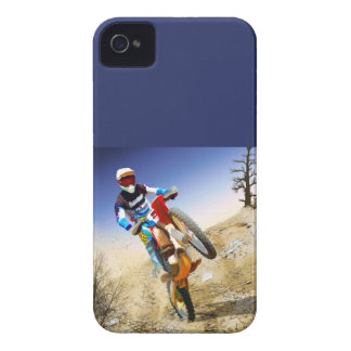 Desert Wheelie Motocross iPhone 4 Case-Mate Case