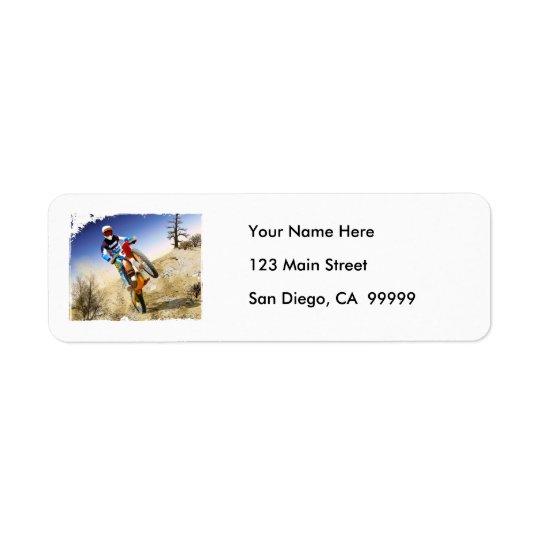 Desert Wheelie Motocross Label