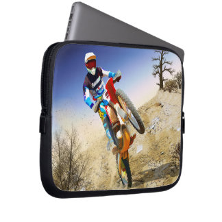Desert Wheelie Motocross Laptop Sleeves