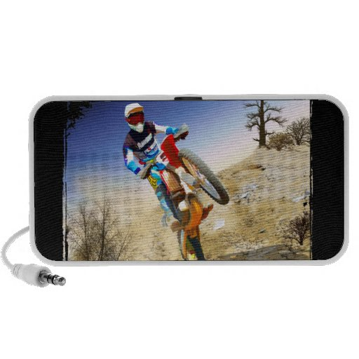 Desert Wheelie Motocross Portable Speakers