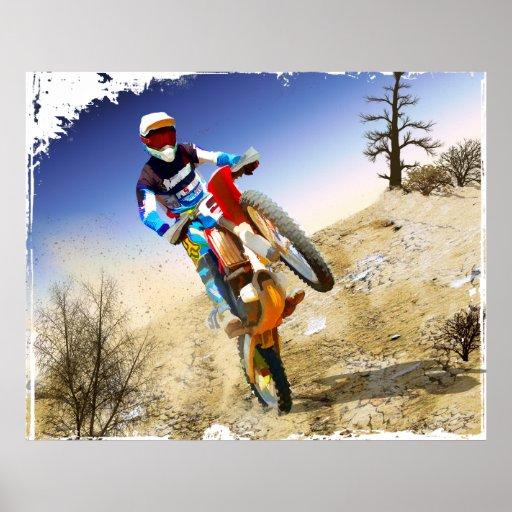 Desert Wheelie Motocross Poster