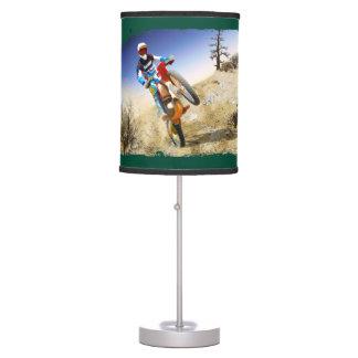 Desert Wheelie Motocross Table Lamp