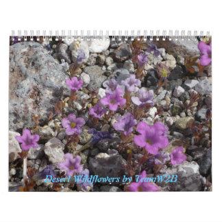 Desert Wildflowers Calander Calendar