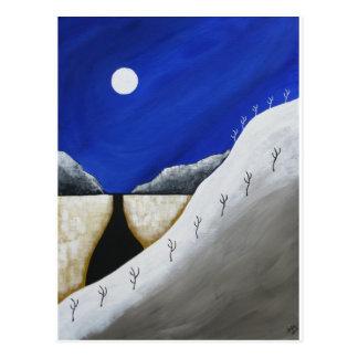 Desert Winter Postcard