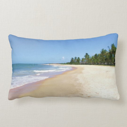 Deserted Beach Lumbar Pillow