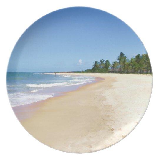 Deserted Beach Melamine Plate