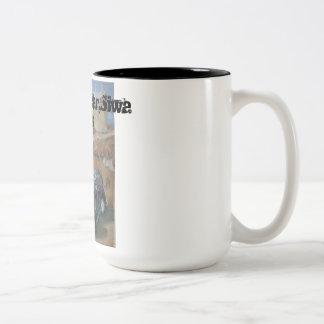 Deserted car, Siwa Oasis Two-Tone Coffee Mug