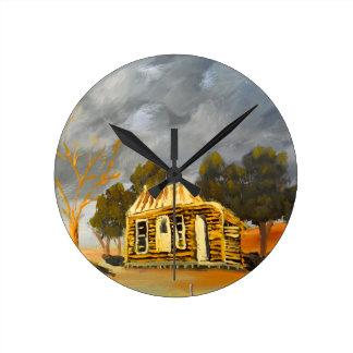 Deserted Castlemain Farmhouse Wall Clocks