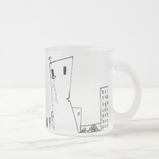 deserted city frosted glass coffee mug