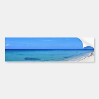 Deserted Cosumel Beach Calm Teal Water White Sand Bumper Sticker