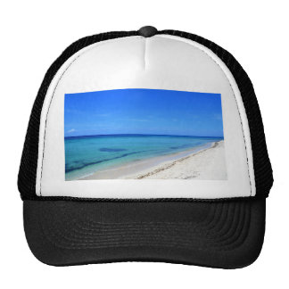 Deserted Cosumel Beach Calm Teal Water White Sand Trucker Hat