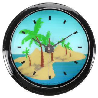 Deserted Island Aqua Clock