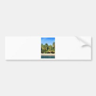 Deserted tropical island beach bumper sticker