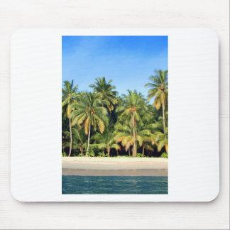 Deserted tropical island beach mouse pad