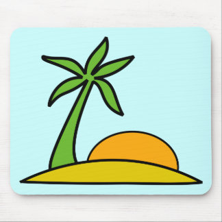 Deserted Tropical Island Mouse Pad