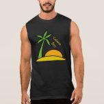Deserted Tropical Island Sleeveless T-shirts