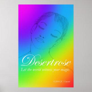 Desertrose Rainbow Poster