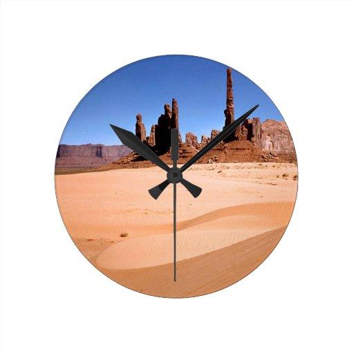 Deserts Monuments Southwest Round Wallclocks