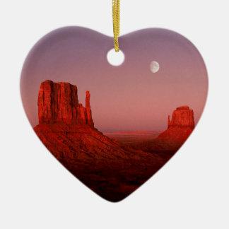 Deserts Moonrise Monument Valley Utah Ceramic Ornament