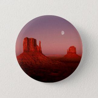 Deserts Moonrise Monument Valley Utah Pinback Button