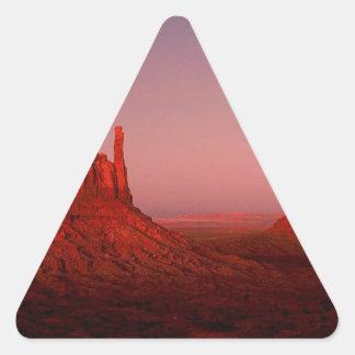 Deserts Moonrise Monument Valley Utah Triangle Sticker