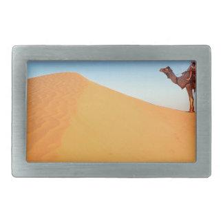 Deserts Sweltering Heat Rajasthan India Belt Buckle