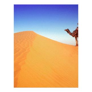 Deserts Sweltering Heat Rajasthan India Custom Letterhead