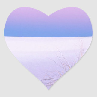 Deserts Tranquility White Sands New Mexico Heart Sticker