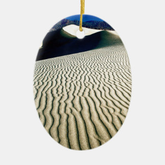 Deserts Wind Etchings Death Valley Double-Sided Oval Ceramic Christmas Ornament