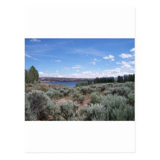 Desertscape con el río postal