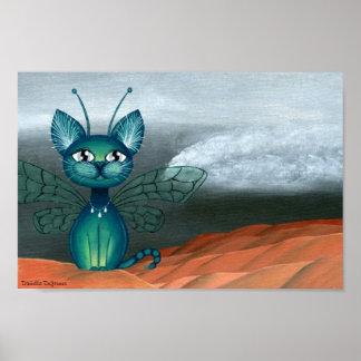 Desertstorm, Fantasy Anime Fairy Kitty Poster