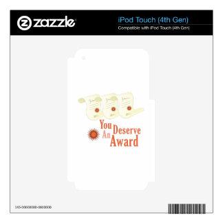 Deserve Award Skins For iPod Touch 4G