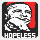 Desesperado: ¡Barack Obama! Pegatinas Cuadradases Personalizadas