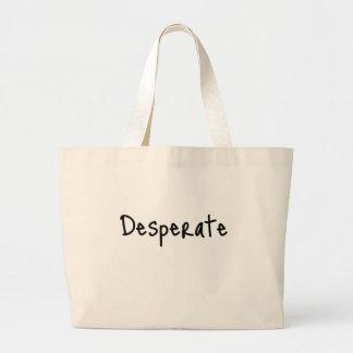 desesperado bolsa tela grande