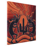 Deset Sun Cactus Southwest Kokopelli Canvas Print