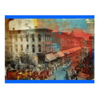 Desfile 1886 del circo de Kansas City Tarjeta Postal