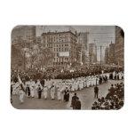 Desfile 1912 del sufragio de las mujeres iman flexible
