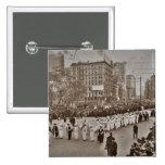 Desfile 1912 del sufragio de las mujeres pins