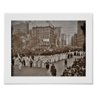 Desfile 1912 del sufragio de las mujeres póster