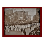 Desfile 1912 del sufragio de las mujeres tarjetas postales
