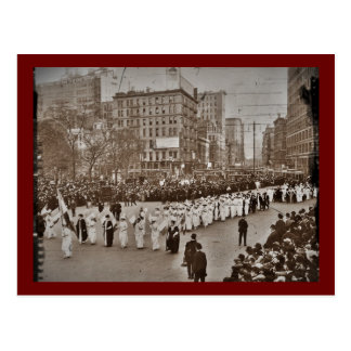 Desfile 1912 del sufragio de las mujeres postal