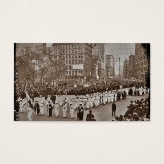 Desfile 1912 del sufragio de las mujeres tarjetas de visita