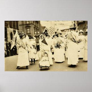 Desfile 1912 del sufragio de New York City Impresiones