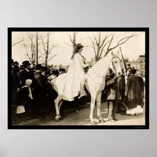 Desfile 1913 del sufragio de la mujer impresiones
