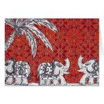 Desfile 3 del elefante tarjeta